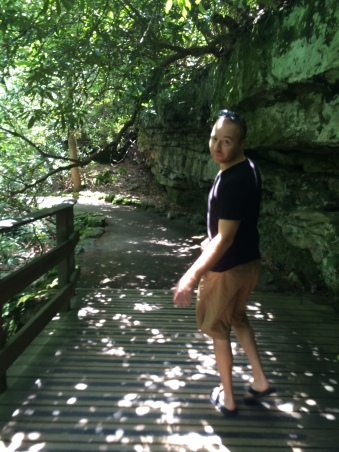 Mark walking the grounds at Falling Water