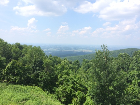 The view from the visitor center at Laurel Caverns!