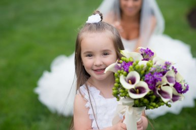 Our adorable flower girl!
