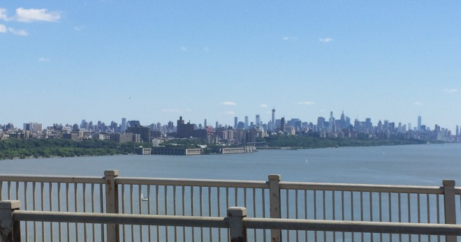 View of NYC coming up to it!