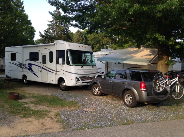 our new setup at Timberlane Campground!