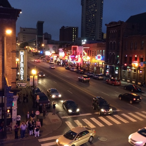 View of downtown Nashville from The Honky Tonk Central bar!
